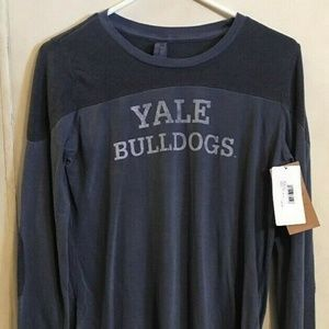 Blue 84 NCAA Yale Bulldogs Adult Womens Long Sleev